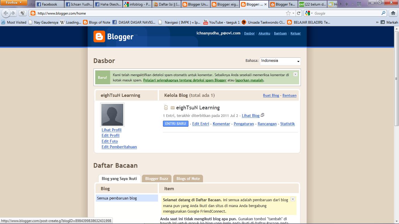 Pelajaran Blog 2 : Posting
