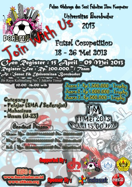 Kompetisi Futsal 2013 Universitas Borobudur