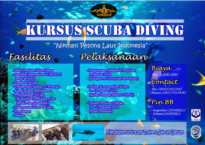 Kursus Scuba Diving A1 One Star Jakarta